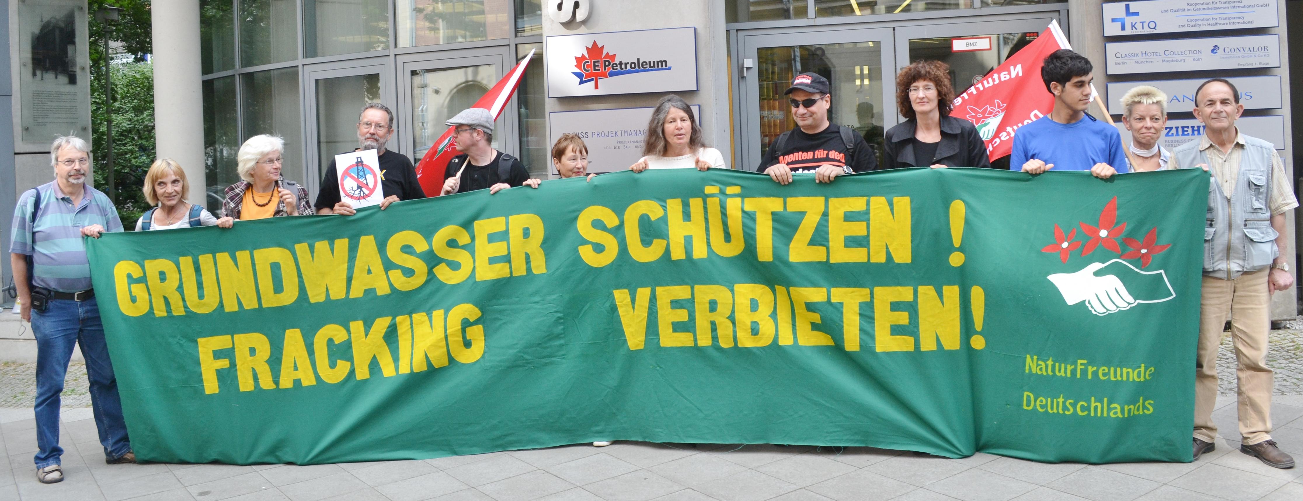 Protest gegen Frackingvorhaben in Deutschland. ©Uwe Hiksch