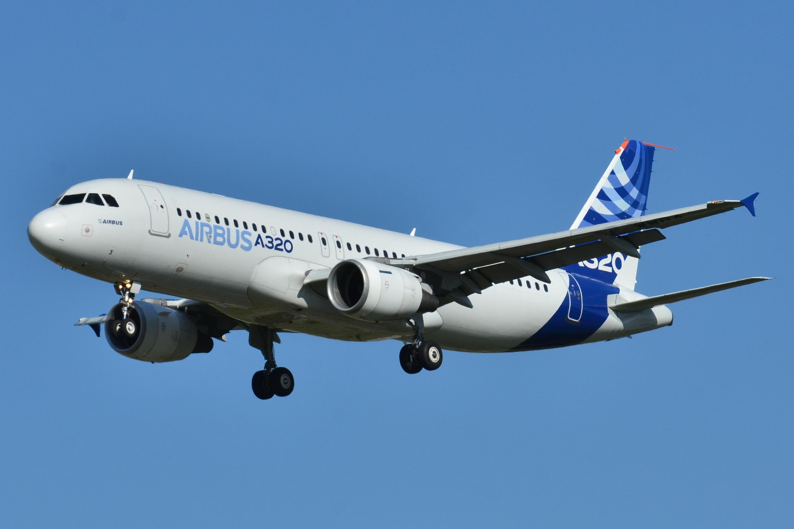 Eine Airbus-Maschine A320; Quelle: Wikipedia