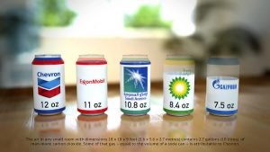 Soda-can carbon visualisation (5 cans / metric / long text) © Flickr, Carbon Visuals